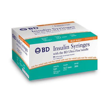 BD Syringes Ultra-Fine 30g 1cc 12.7mm