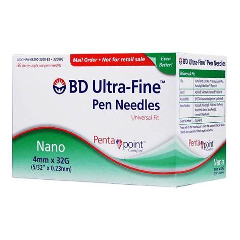 Bd-Ultra-Fine-Nano-Pen-Needle-32-G-X-4-mm-–-Box-of-90