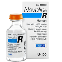 Novolin R Insulin U-100 10ml vial