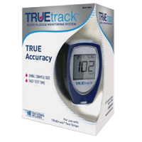 TRUEtrack blood glucose monitoring system meter kit