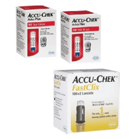 Accu-chek Aviva 100ct test strips & 102 multiclix lancets