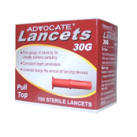 advocate pull-top lancets 100 count per box