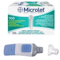 Bayer microlet lancing device & 100 lancets