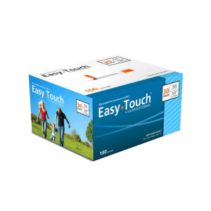Easy touch 30g 1/2cc 100ct 8mm 5/16in syringes