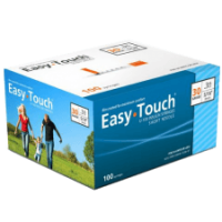 Easy-touch 30g 3/10cc 100ct 8mm 5/16in syringes