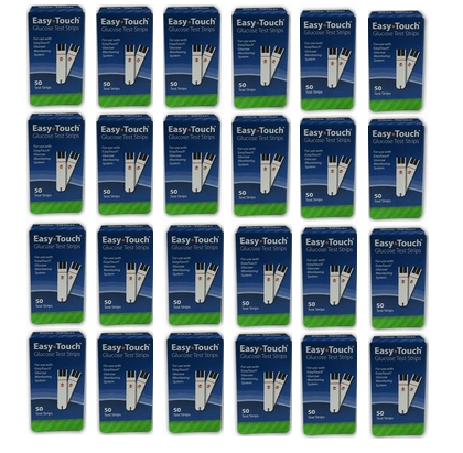 easy-touch glucose test strips case of 24 x 50ct