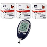 Abbott freestyle freedom lite meter with 150 test strips