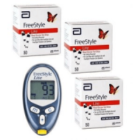 Free Abbott freestyle lite meter with 150 test strips
