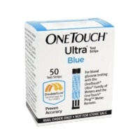 Onetouch ultra diabetic test strips mail-order box of 50