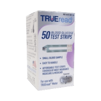 TRUEread blood glucose test strips box of 50