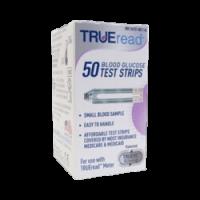 TRUEread blood glucose test strips box of 50