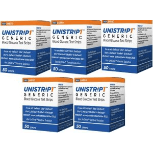 unistrip-250-ct-test-strips-for-use-with-onetouch-ultra-meters-combo-deal-5-boxes-of-50-ct-1