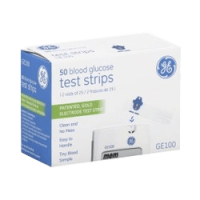 GE100 glucose test strips box of 50 discounted subscription