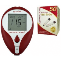 advocate redi-code meter & 50ct test strips