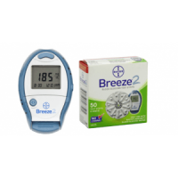 Bayer Breeze2 Glucose Meter plus 50ct strips