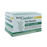 Sure Comfort 32G 5/32 (4mm) Insulin Pen Needles 100ct