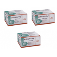 3 Boxes of 90ct BD Syringes Ultra-Fine 30g; 1cc; 12.7mm (1/2 in)