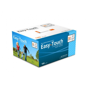 Easy Touch 30g__3.10cc--- 100ct--12.7mm --.5 in Syringes - Discounted Subscription